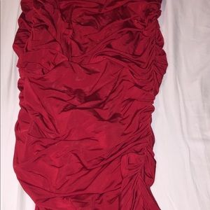 BEBE ROYAL RED strapless bodycon size M